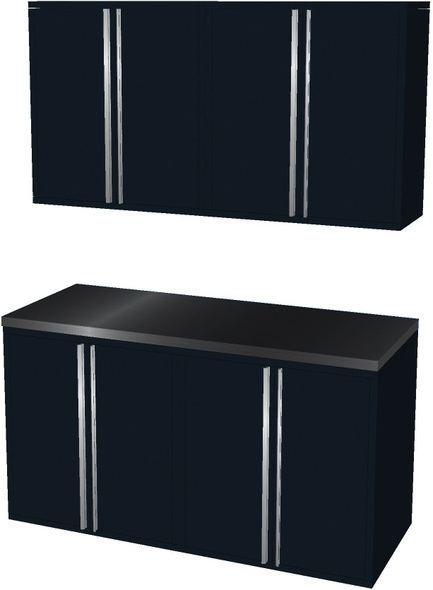 5-Piece Black Garage Cabinet Set (50600)