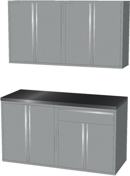 4-Piece Silver Garage Cabinet Set (50601)