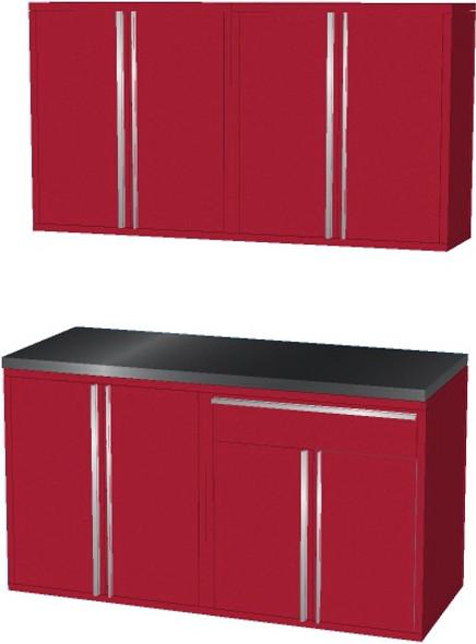 4-Piece Red Garage Cabinet Set (50601)