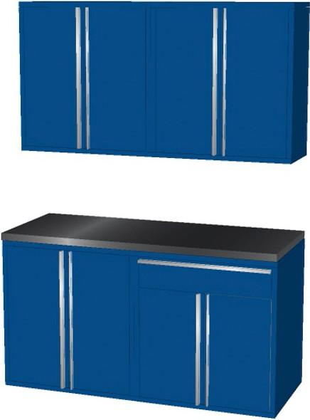 4-Piece Blue Garage Cabinet Set (50601)