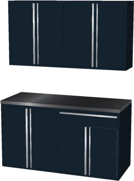 4-Piece Black Garage Cabinet Set (50601)