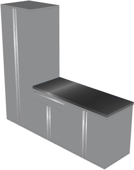 4-Piece Silver Garage Cabinet Set (40903)