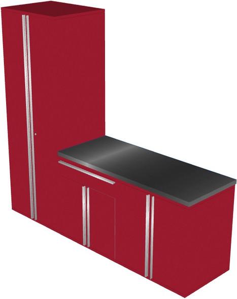 4-Piece Red Garage Cabinet Set (40903)