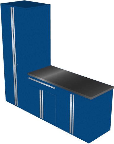 4-Piece Blue Garage Cabinet Set (40903)