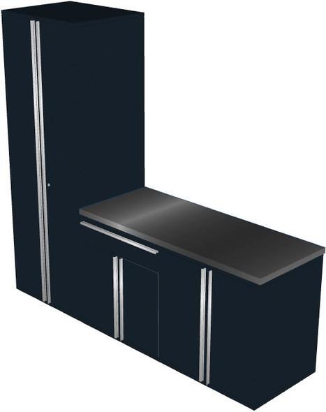 4-Piece Black Garage Cabinet Set (40903)