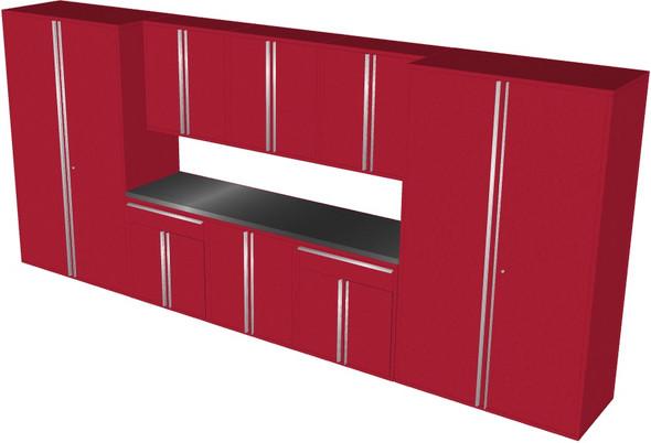 Saber 9-Piece Red Garage Cabinet Set (901866)