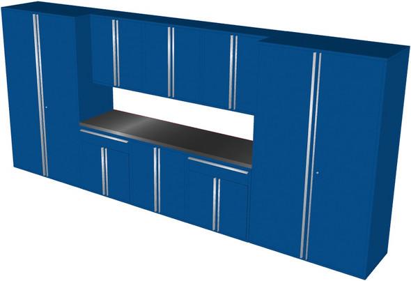 Saber 9-Piece Blue Garage Cabinet Set (901866)