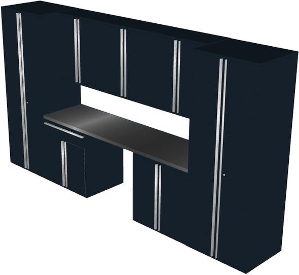 Saber 8-Piece Black Garage Cabinet Set (801503)