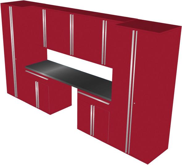 Saber 8-Piece Red Garage Cabinet Set (801504)