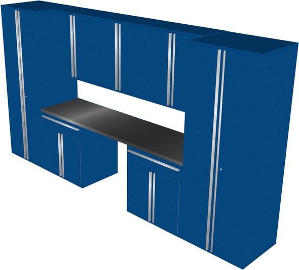 Saber 8-Piece Blue Garage Cabinet Set (801504)