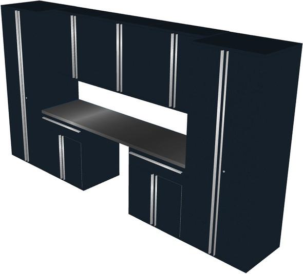 8-Piece Black Garage Cabinet Set (801504)