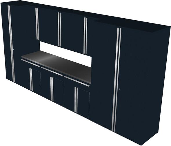 Saber 9-Piece Black Garage Cabinet Set (901680)