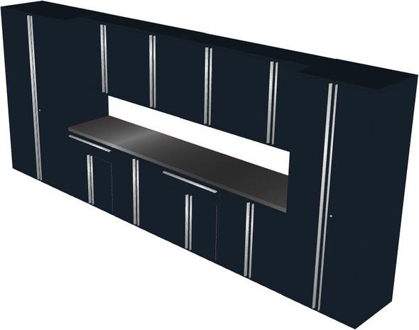 12-Piece Black Garage Cabinet Set (121984)