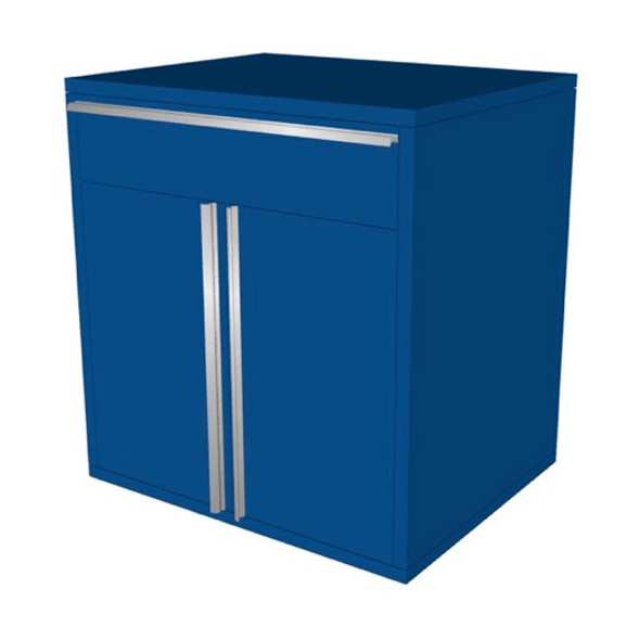 Saber blue 1 drawer base cabinet
