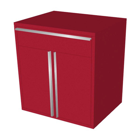 Saber red 1 drawer base cabinet