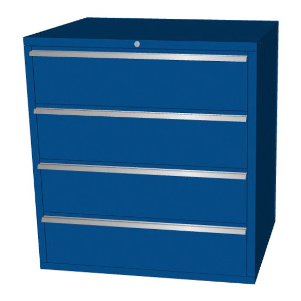 Saber blue 4 drawer base cabinet