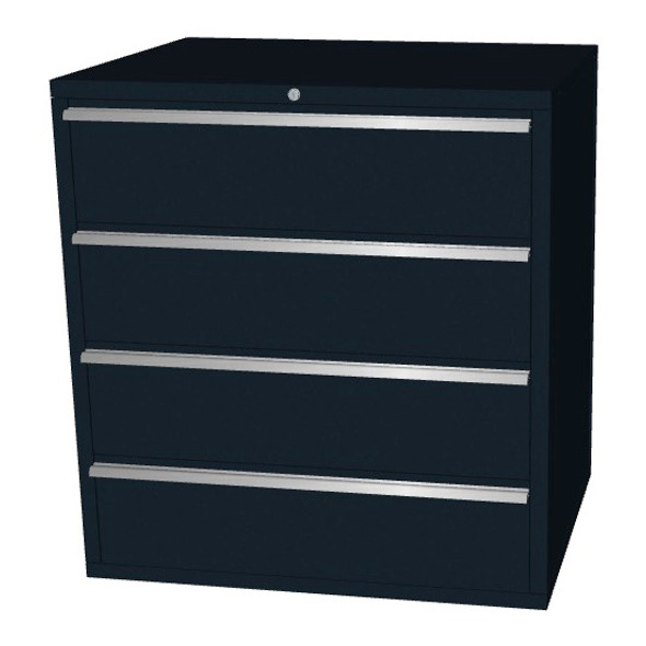 Saber black 4 drawer base cabinet