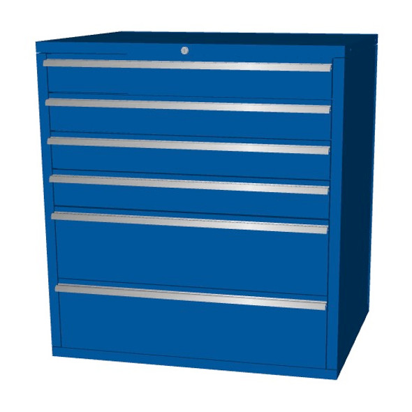 Saber blue 6 drawer base cabinet