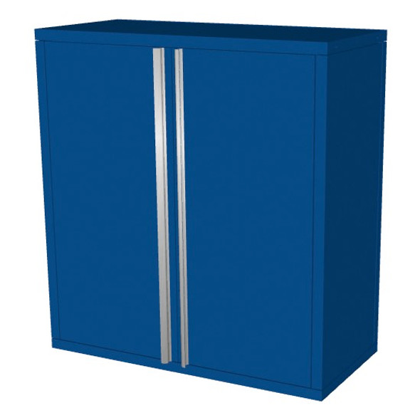 Saber blue 2 door upper wall cabinet