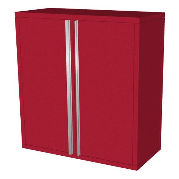 Saber red 2 door upper wall cabinet