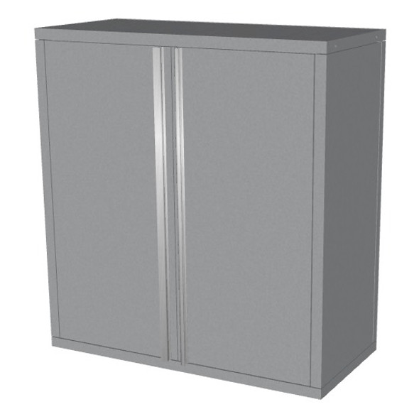 Saber silver 2 door upper wall cabinet