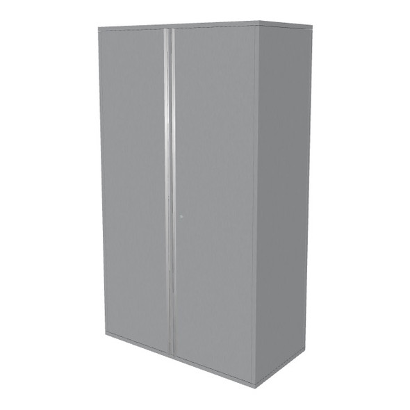 "Saber silver 48"" storage locker cabinet"