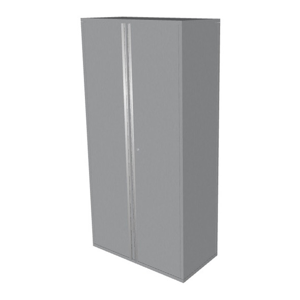 "Saber silver 36"" storage locker cabinet"