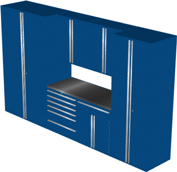 Saber 7-Piece Blue Garage Cabinet Set (7002)