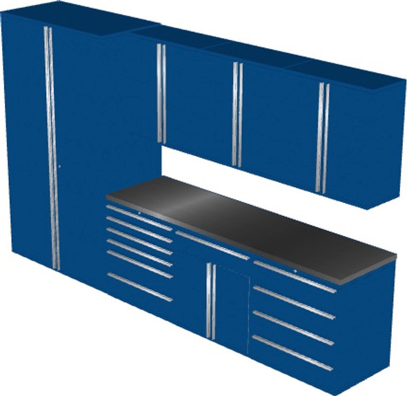 Saber 8-Piece Blue Garage Cabinet Set (8003)