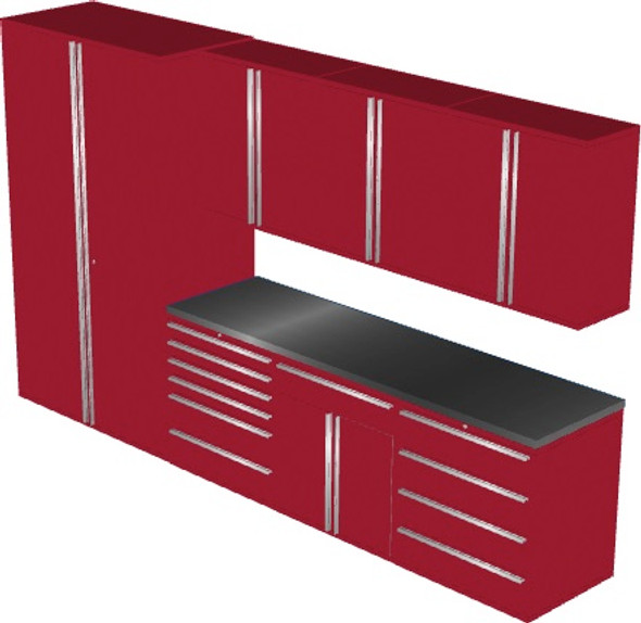 Saber 8-Piece Red Garage Cabinet Set (8003)