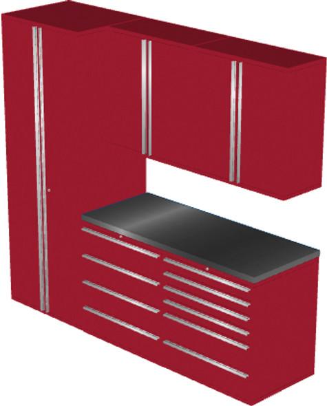 6-Piece Red Garage Cabinet Set (6006)