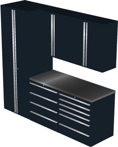 6-Piece Black Garage Cabinet Set (6006)