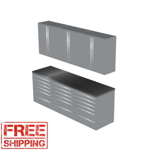 6-Piece Silver Garage Cabinet Set (7020)