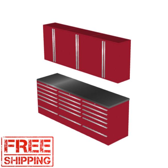6-Piece Red Garage Cabinet Set (7020)