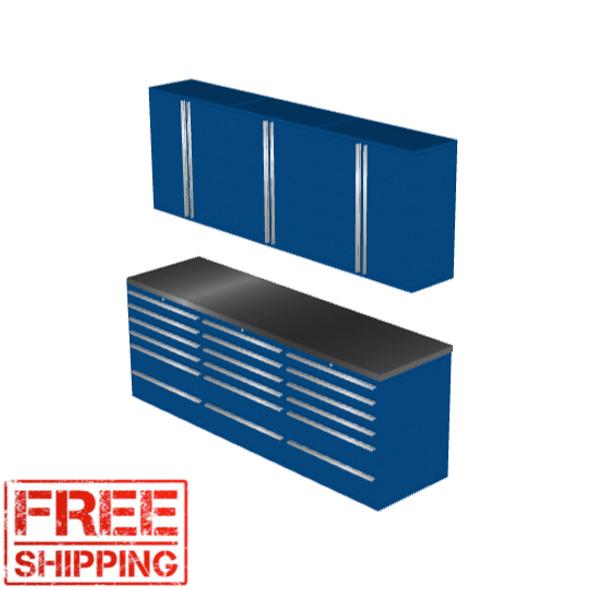 6-Piece Blue Garage Cabinet Set (7020)