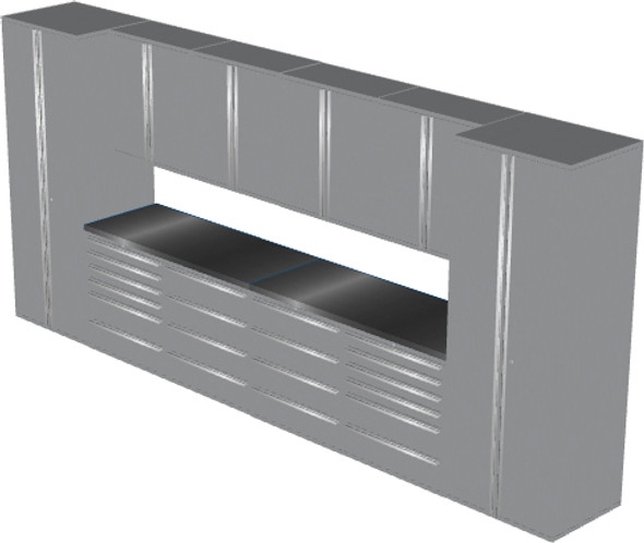 12-Piece Silver Garage Cabinet Set (12001)
