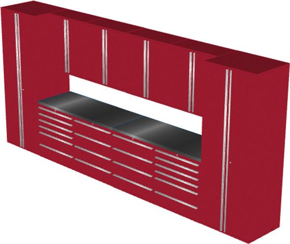 12-Piece Red Garage Cabinet Set (12001)