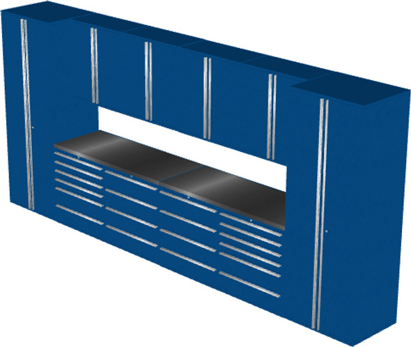 12-Piece Blue Garage Cabinet Set (12001)