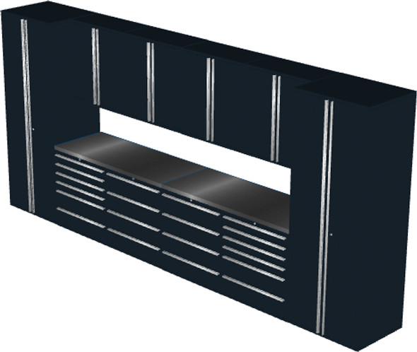 12-Piece Black Garage Cabinet Set (12001)
