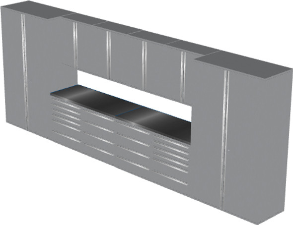 12-Piece Silver Garage Cabinet Set (12002)