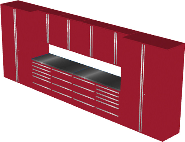 12-Piece Red Garage Cabinet Set (12002)