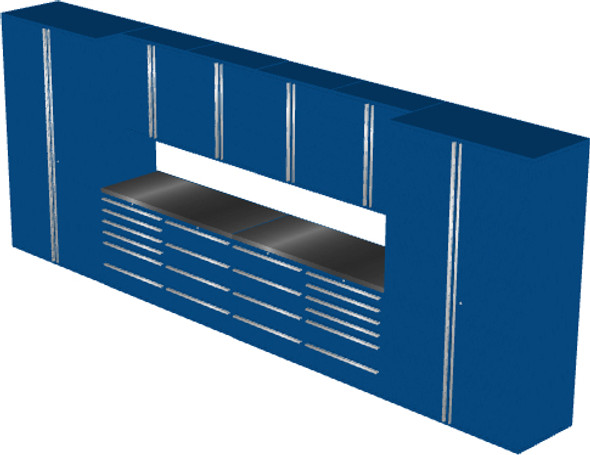 12-Piece Blue Garage Cabinet Set (12002)