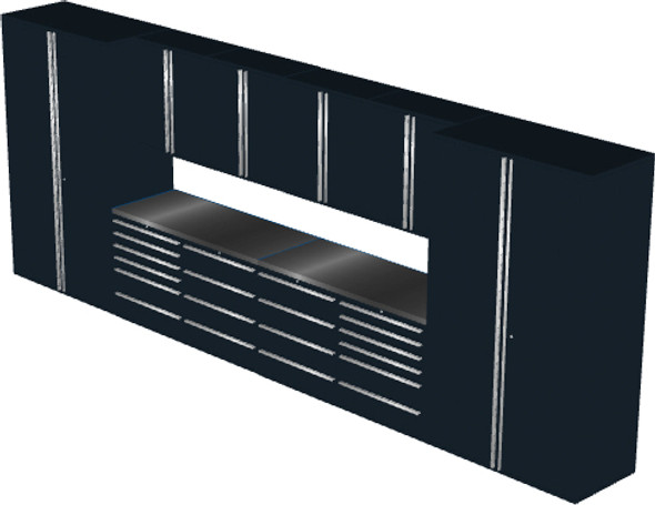 12-Piece Black Garage Cabinet Set (12002)
