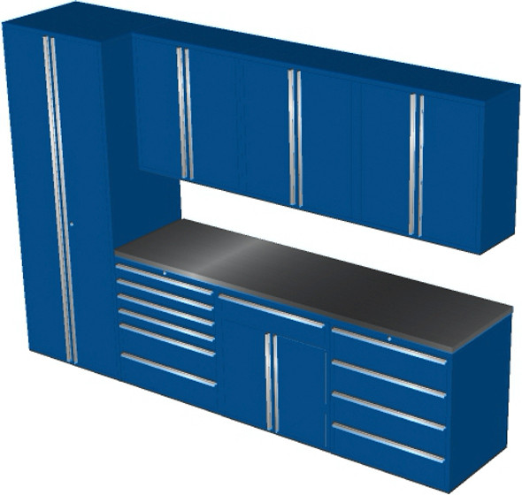 Saber 8-Piece Blue Garage Cabinet Set (8008)