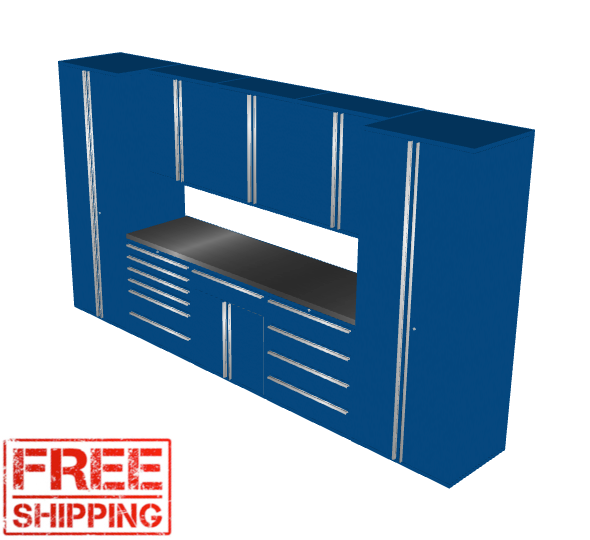 Saber 9-Piece Blue Garage Cabinet Set (9005)