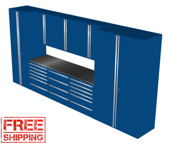 Saber 9-Piece Blue Garage Cabinet Set (9009)