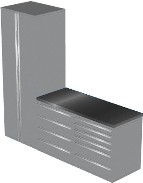 4-Piece Silver Garage Cabinet Set (4006)