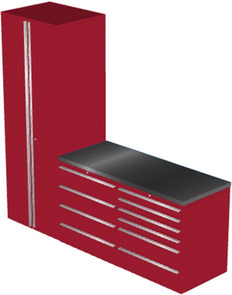 4-Piece Red Garage Cabinet Set (4006)