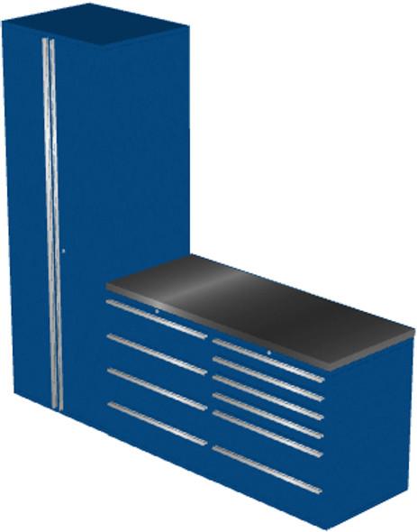 4-Piece Blue Garage Cabinet Set (4006)