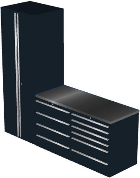 4-Piece Black Garage Cabinet Set (4006)